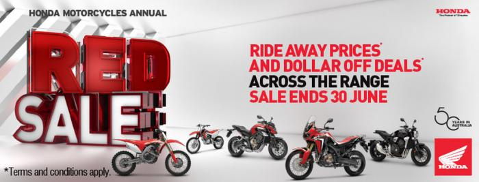 2019 HONDA RED SALE